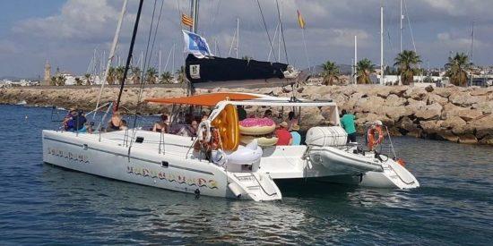 Catamaran sailing in Barcelona