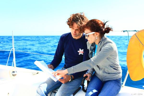 Masnou harbor sail, explaining the wind rose