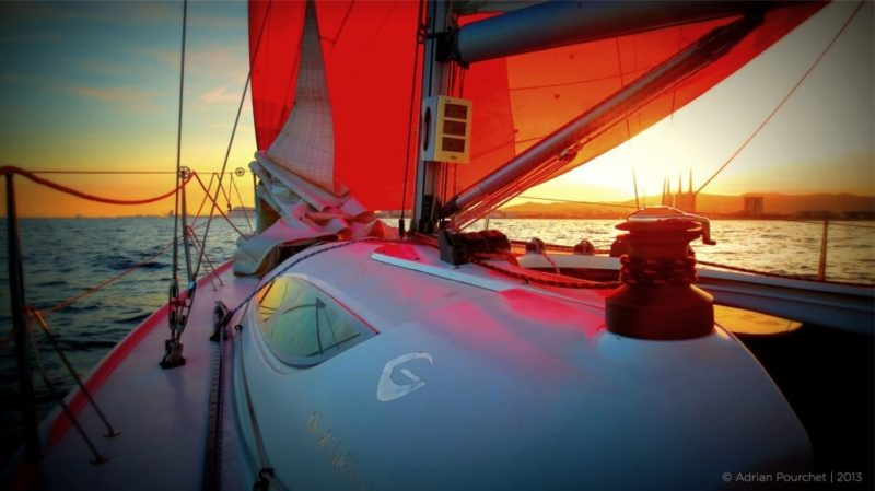 BarcelonaSail offer sunset boat tours, sail boat trips in Barcelona all year