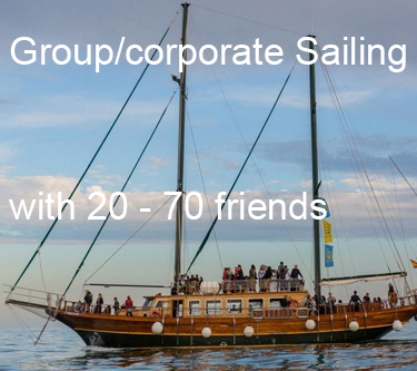 Group sail and corporate sailing on beautiful Schooner
