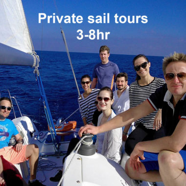 Private sail tours with up to 12 people