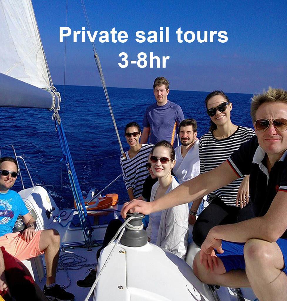 bout trip barcelona private Sail Tours barcelona