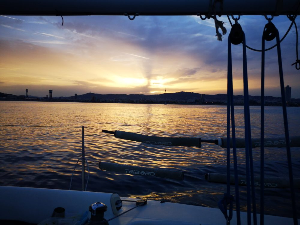 Sunset sail, sailing Barcelona experience
