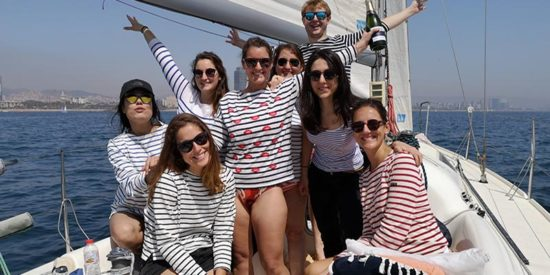 Hen party on a sail boat