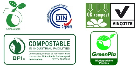 bio degradable compostable plastic labels