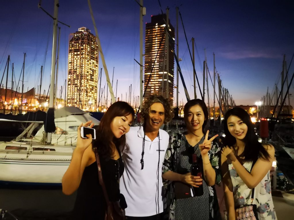 Sailing trip with south korean guests