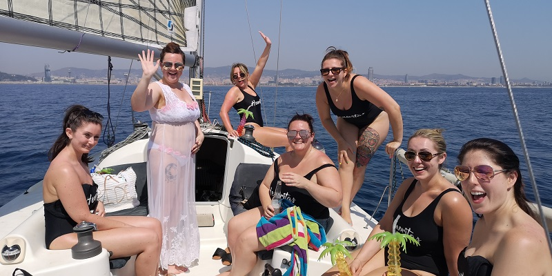 Stag and Hen Boat Experience on a luxury boat in barcelona