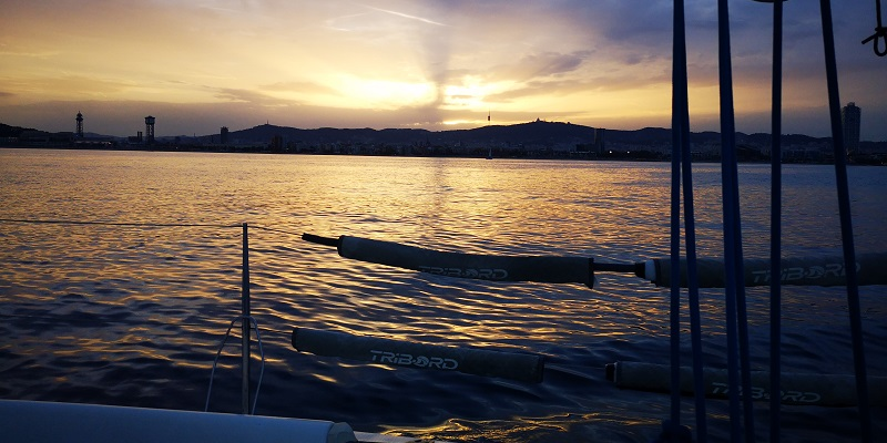 Luxury Boat Sunset Sail Experience in Barcelona